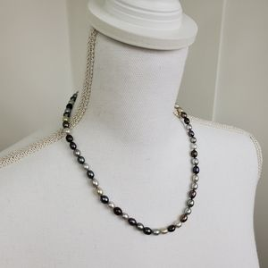Na hoku mixed natural pearl necklace